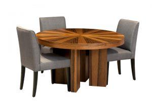 שולחן עגול קפלה – שולחן אוכל עגול נפתח