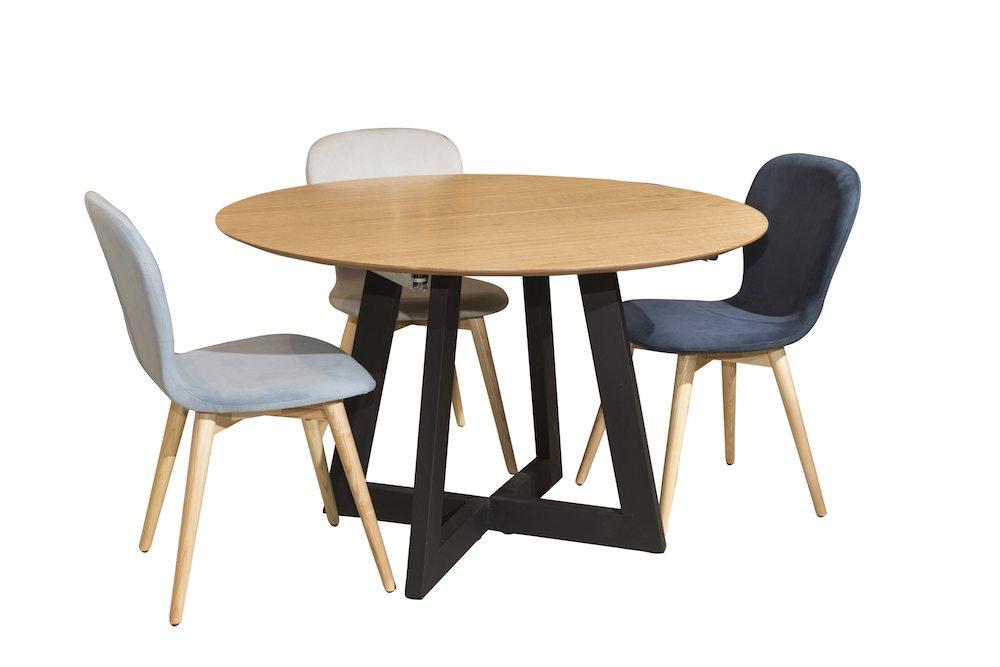 שולחן עגול רטרו רגל ברזל